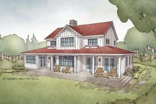House Plan Design - Farmhouse Exterior - Rear Elevation Plan #928-306
