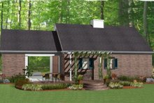 Southern Exterior - Rear Elevation Plan #406-9619