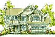 Country Style House Plan - 4 Beds 2.5 Baths 2331 Sq/Ft Plan #20-2042 Exterior - Front Elevation