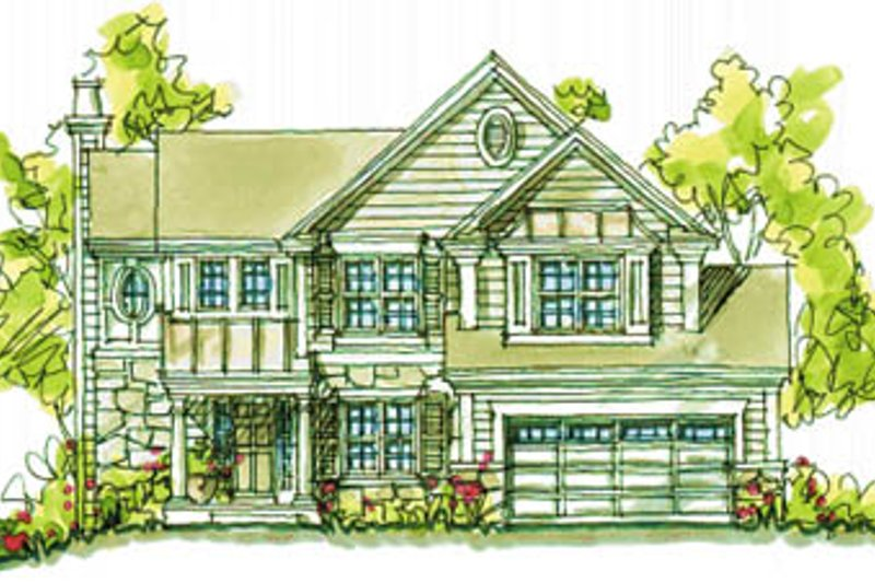 Country Exterior - Front Elevation Plan #20-2042