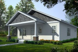 House Design - Craftsman Exterior - Front Elevation Plan #112-159