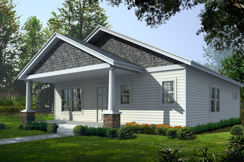 Craftsman Style House Plan - 2 Beds 2 Baths 1200 Sq/Ft Plan #112-159