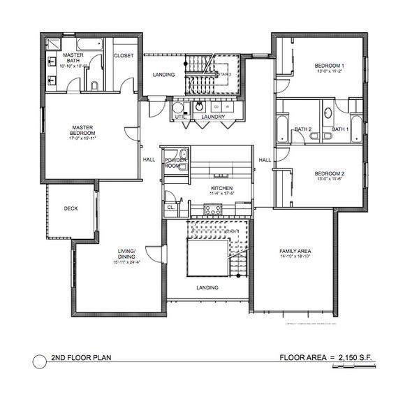 Modern Floor Plan - Main Floor Plan #535-16
