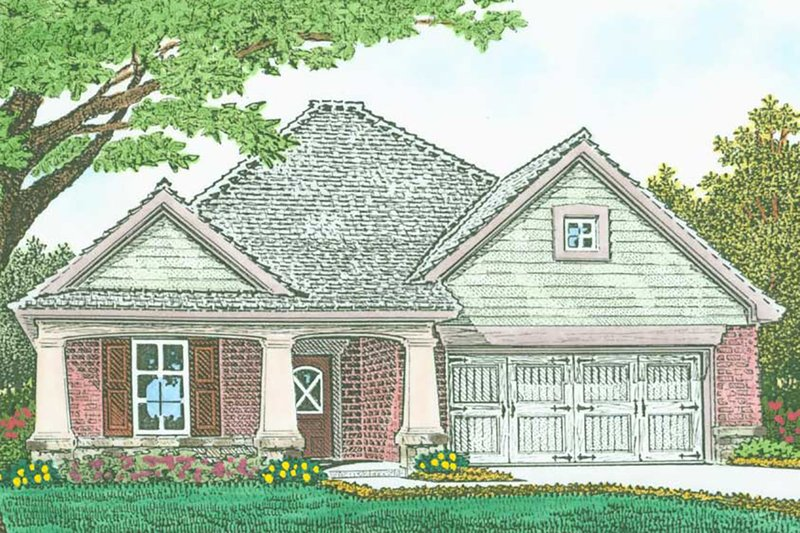 House Plan Design - Craftsman Exterior - Front Elevation Plan #310-1317