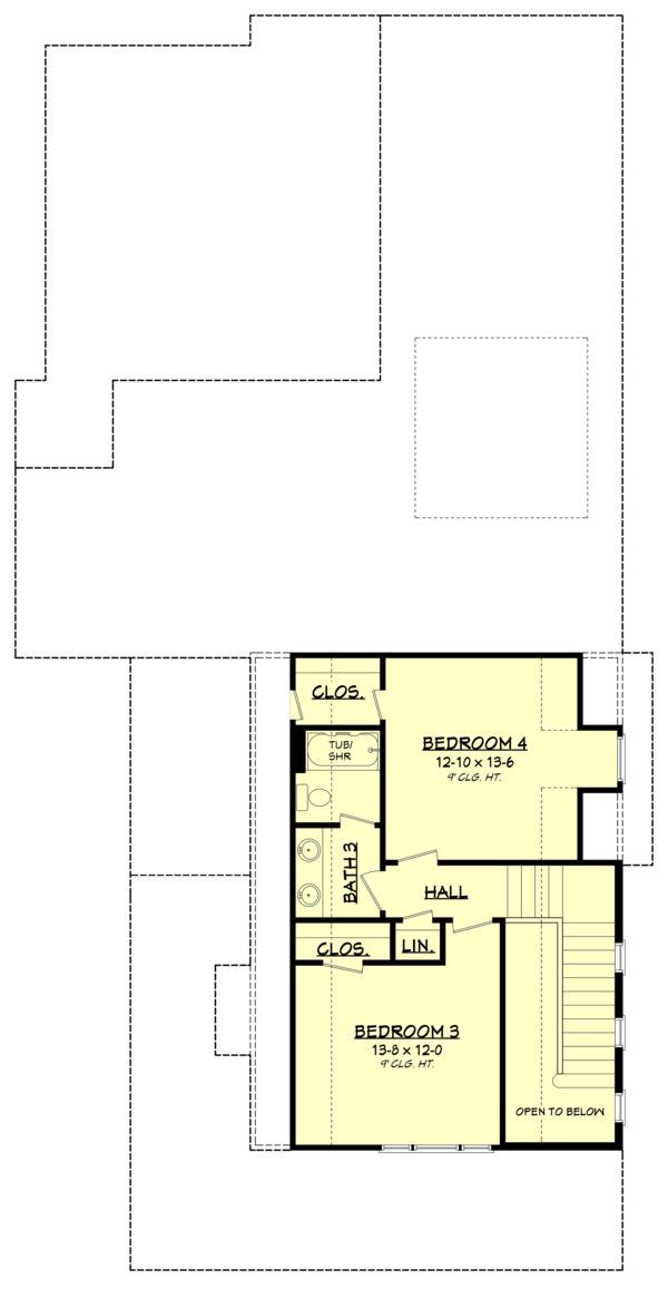 Dream House Plan - Farmhouse Floor Plan - Upper Floor Plan #1067-5