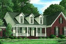 House Plan Design - Traditional Exterior - Front Elevation Plan #34-158