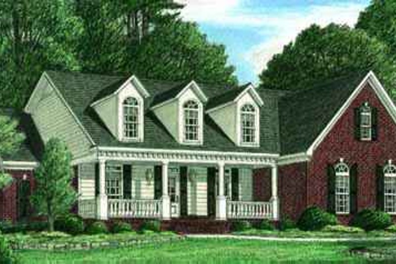 Traditional Exterior - Front Elevation Plan #34-158 - Houseplans.com