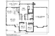 Ranch Style House Plan - 3 Beds 2 Baths 1983 Sq/Ft Plan #70-1418 Floor Plan - Main Floor Plan