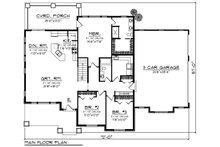 Ranch Floor Plan - Main Floor Plan Plan #70-1418