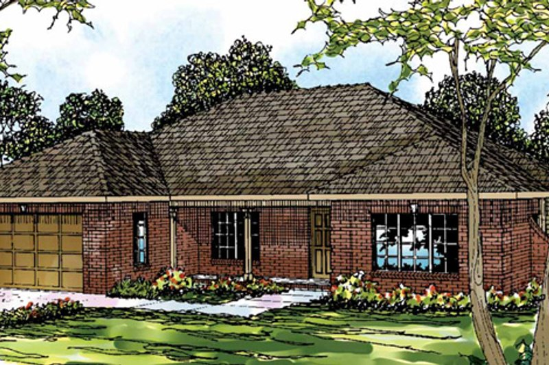 Traditional Exterior - Front Elevation Plan #124-280