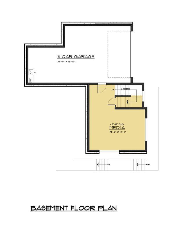 European Floor Plan - Lower Floor Plan #1066-74