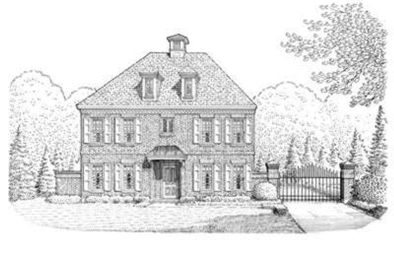 European Exterior - Front Elevation Plan #410-362 - Houseplans.com