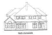 Mediterranean Style House Plan - 4 Beds 4 Baths 2588 Sq/Ft Plan #20-259 Exterior - Rear Elevation