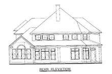 Home Plan - Mediterranean Exterior - Rear Elevation Plan #20-259