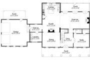 Southern Style House Plan - 3 Beds 3.5 Baths 3672 Sq/Ft Plan #1071-19 Floor Plan - Main Floor Plan