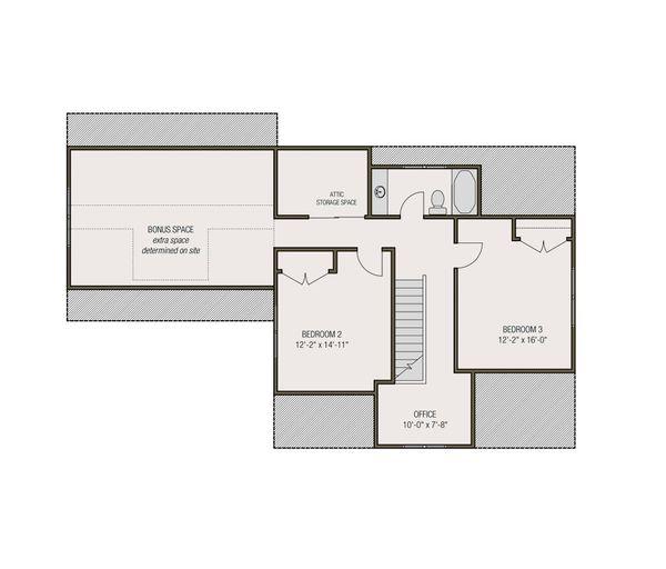 Farmhouse Floor Plan - Upper Floor Plan Plan #461-71