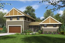 Dream House Plan - Contemporary Exterior - Front Elevation Plan #48-661