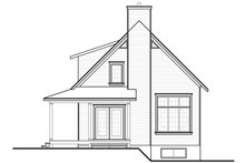 Dream House Plan - Rear view - 1400 square foot cottage