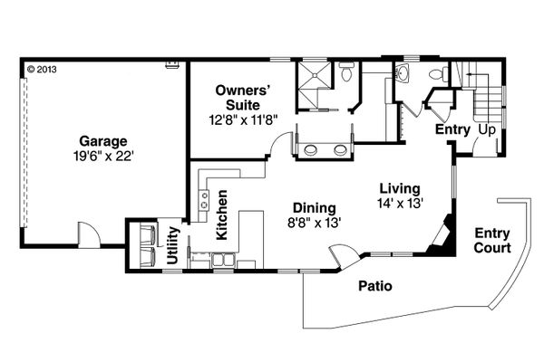 Dream House Plan - Modern Floor Plan - Main Floor Plan #124-920