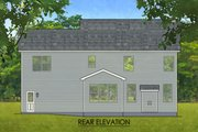 Colonial Style House Plan - 4 Beds 2.5 Baths 2210 Sq/Ft Plan #1010-213 Exterior - Rear Elevation