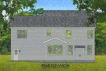 Colonial Exterior - Rear Elevation Plan #1010-213