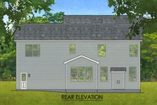 Architectural House Design - Colonial Exterior - Rear Elevation Plan #1010-213