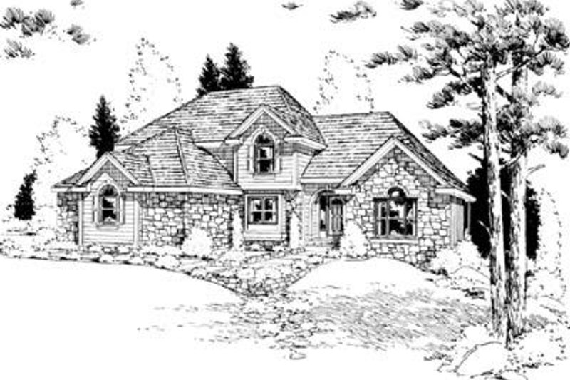 Traditional Exterior - Front Elevation Plan #20-857 - Houseplans.com