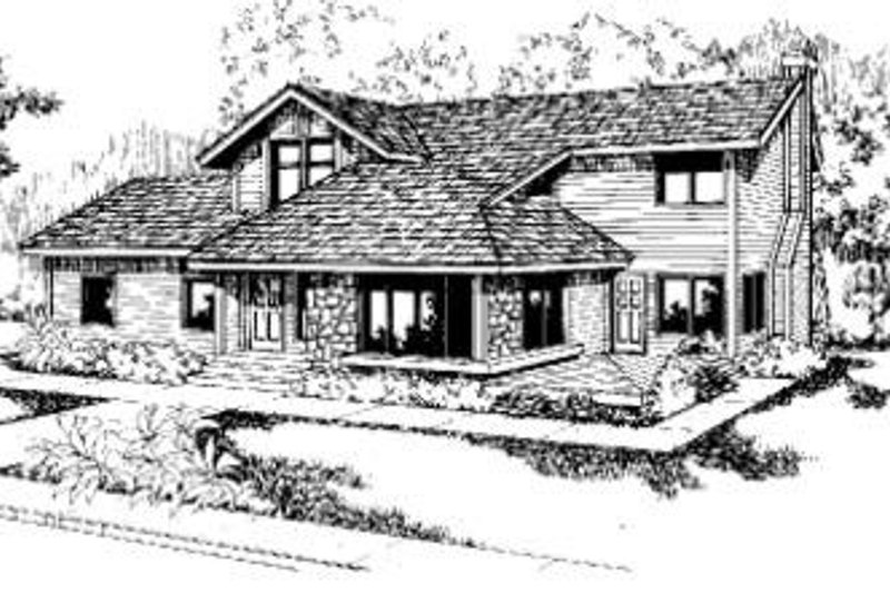 Bungalow Exterior - Front Elevation Plan #60-309 - Houseplans.com