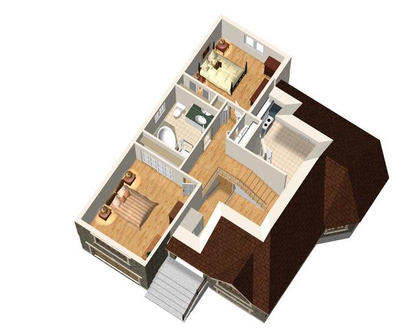 European Floor Plan - Upper Floor Plan Plan #25-4641