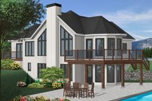Home Plan - Contemporary Exterior - Front Elevation Plan #23-873