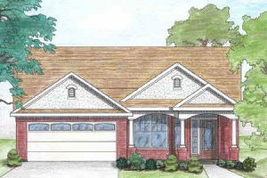 Home Plan - Traditional Exterior - Front Elevation Plan #80-103