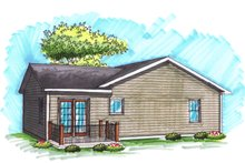 Home Plan - Exterior - Rear Elevation Plan #70-1015