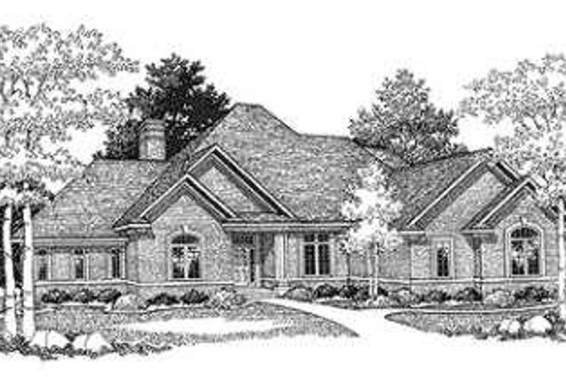 Dream House Plan - Southern Exterior - Front Elevation Plan #70-484