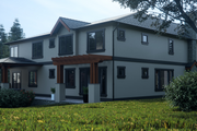 Contemporary Style House Plan - 5 Beds 5.5 Baths 5404 Sq/Ft Plan #1066-36 Exterior - Rear Elevation