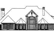 European Style House Plan - 4 Beds 3.5 Baths 4166 Sq/Ft Plan #310-229 Exterior - Rear Elevation