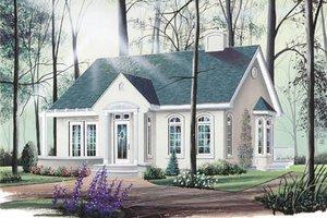 Cottage Exterior - Front Elevation Plan #23-111