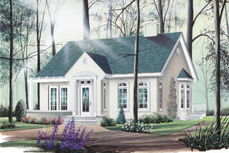 Cottage Exterior - Front Elevation Plan #23-111