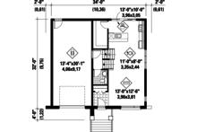 Contemporary Floor Plan - Main Floor Plan Plan #25-4283