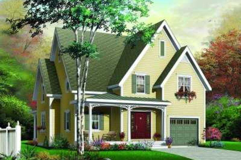 Dream House Plan - European Exterior - Front Elevation Plan #23-334