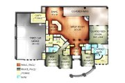 Mediterranean Style House Plan - 4 Beds 3 Baths 2594 Sq/Ft Plan #24-260 Floor Plan - Main Floor Plan