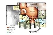 Mediterranean Style House Plan - 4 Beds 3 Baths 2594 Sq/Ft Plan #24-260 Floor Plan - Main Floor