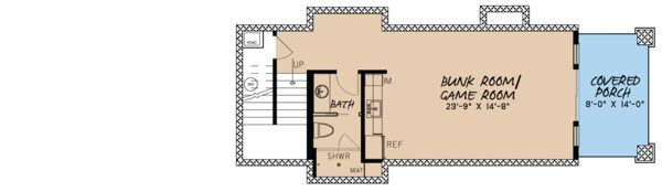 Craftsman Floor Plan - Lower Floor Plan Plan #923-73