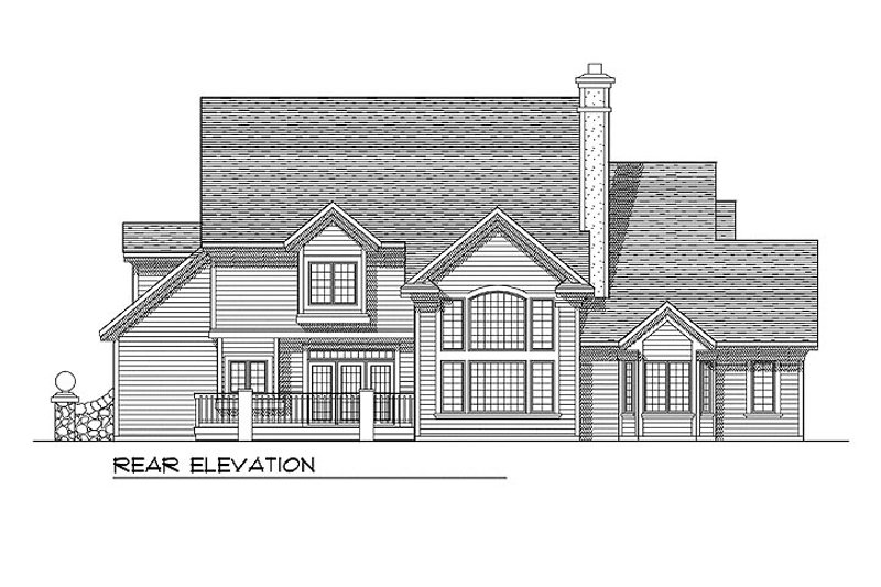 European Exterior - Rear Elevation Plan #70-546 - Houseplans.com