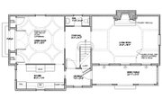 Colonial Style House Plan - 3 Beds 2.5 Baths 2038 Sq/Ft Plan #477-3 Floor Plan - Main Floor Plan