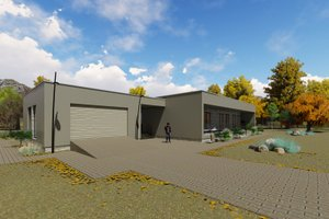 Modern Exterior - Front Elevation Plan #549-22