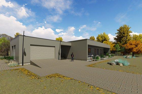 Modern Exterior - Front Elevation Plan #549-22