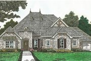 European Style House Plan - 3 Beds 2.5 Baths 2370 Sq/Ft Plan #310-1281 Exterior - Front Elevation