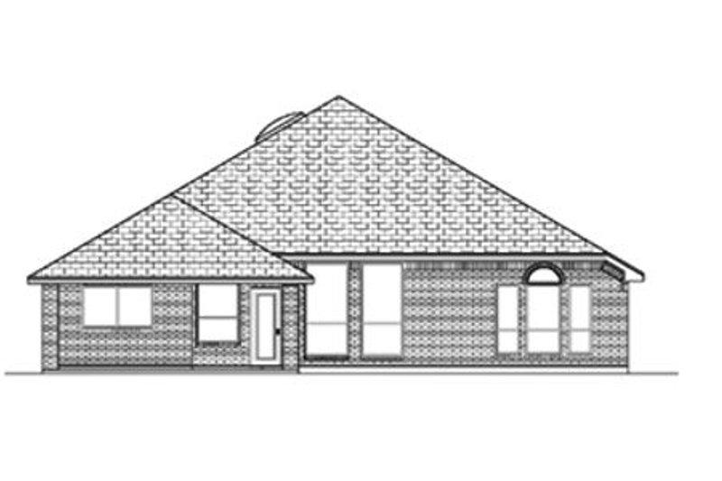 Traditional Exterior - Rear Elevation Plan #84-368 - Houseplans.com