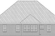 Ranch Style House Plan - 3 Beds 2 Baths 1504 Sq/Ft Plan #21-182 Exterior - Rear Elevation
