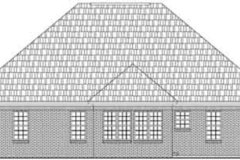 Ranch Exterior - Rear Elevation Plan #21-182 - Houseplans.com